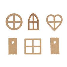 Decor DIY Crafts Wood Wooden Ornaments Frame Carved Scrapbooking Embellishment