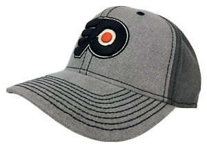 Philadelphia Flyers 2-Tone Gray Adjustable Hat w/ 3D P-Wing Logo NHL NWT
