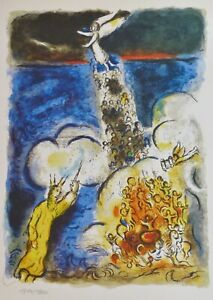 MARC CHAGALL EXODUS the Crossing of the Red Sea SIGNED HAND NUMBERED LITHOGRAPH