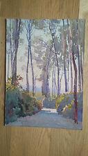 peinture Casimir Raymond paysage provence aquarelle ancienne signée