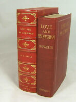 H. G. WELLS amazing 1900 First Edition LOVE AND MR. LEWISHAM - SIGNED must see!