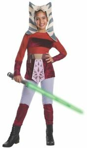 Star Wars Costume, Kids Clone Wars Ahsoka Outfit M Age 5-7 Height 127-137 cm