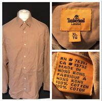 Timberland Men's Shirt Brown XL Extra Large Casual Shirt Long Sleeve