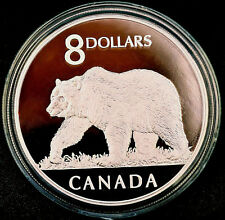 2004 CANADA Great Grizzly $8 coin and stamp set in wooden box