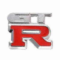 1x Car Metal Silver GTR Logo 3D Decal Badge Emblem Sticker Auto Number Stickers