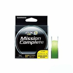 SHIMANO PE Line Mission Complete EX8 200m #1 20lb Site lime PL-M68M
