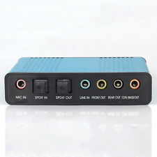 External USB 6 Channel 5.1 Sound Card Adapter SPDIF Optical PC Audio Converter