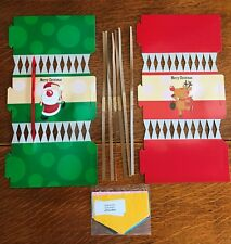 Set of 6 Make Your Own Christmas Crackers Craft Dinner Table Vintage Decorations