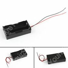 1Pcs 2x18650 Parallel Batería Soporte Estuche Caso Caja Para 3.7V Batteries
