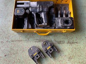 REMS AKKU-Pressmaschine mit Presszangen/Pressbacken im Koffer!
