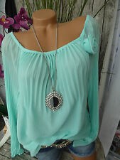 Ashley Brooke Bluse Shirt Schlupfbluse Gr. 34 bis 48 Aqua (016) NEU