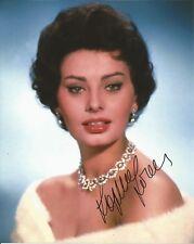 Hand Signed 8x10 SEXY photo SOPHIA LOREN Hollywood Legend + my COA