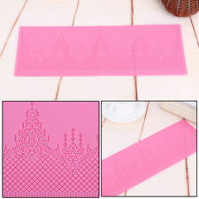 Silicone Lace Mold Sugar Craft Fondant Mat Cake Decorating Mould Baking Tools