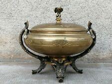 Bonbonnière barbedienne? Bronze decor bambou putti angelot box bamboo coffret