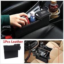 PU Car Passenger Side Seat Storage Box Catcher Gap Filler Coin StorageCup Holder
