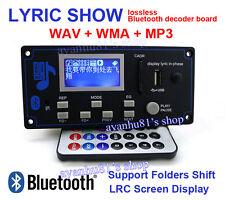 Bluetooth Receiver 12V MP3 Player FM WMA WAV Decoder Audio Board LCD Lyrics Show
