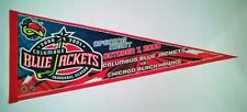2000-01 COLUMBUS BLUE JACKETS Inaugural FIRST GAME PENNANT vs Chicago NHL - NICE