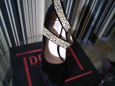 Black & Gold Suede High Heel Size 9
