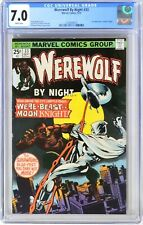 A0871. WEREWOLF BY NIGHT #33 Marvel CGC 7.0 FN/VF (1975) 2nd App. of MOON KNIGHT