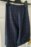 New Ted Baker Stefant Check Tailored Suit Trousers, Navy Blue, 36R, £139