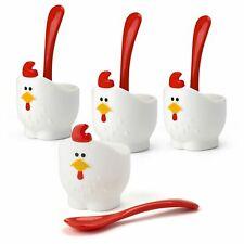 MSC Doodle Doo Egg Cup & Spoon Set of 4 (RRP $24)