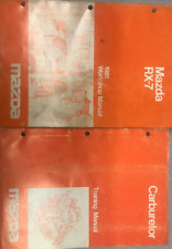 1981 Mazda RX-7 RX7 Service Repair Shop Workshop Manual OEM Set W Carburetor Bk