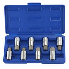 "1/2"" Drive Jumbo Hex Bit Sockets | 8pc SAE & Metric Set Standard Allen Wrench"