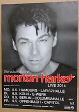 Morten Harket (a-ha)    Tourposter    2014  Hamburg- Köln- Berlin - Offenbach
