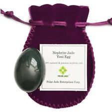 Genuine Nephrite Jade Yoni Egg,Undrilled,For Kegels To Train Pelvic Floor Muscle