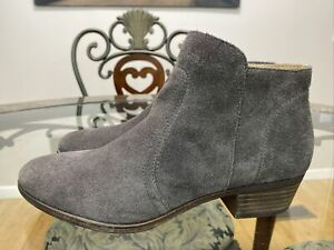 Lucky Brand Women's BRECK Suede Charcoal Gray Ankle Bootie Size 10M