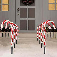 Christmas Pathway Candy Cane Walkway Light Stake Lamp Outdoor Yard Decor