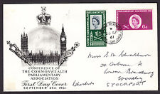 1961 PARLIAMENTARY CONFERENCE SET OF 2 SG629/630 ON ILLUSTRATED FDC WITH SP/HS