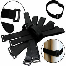 """100 x 20"""" x 1"""" Black Cable Ties Wire Cord Straps Reusable Hook & Loop Us Seller"""
