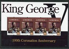 Liberia 2011 MNH King George V 100th Coronation Anniv 4v M/S Royalty Stamps