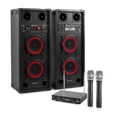 600 Watt Karaoke Anlage mit Master Slave Boxensystem & Doppel VHF Funkmikrofon