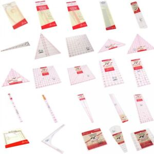 Sew Easy Quilting Patchwork Ruler Square, Rectangle & Triangle Quilters Sewing