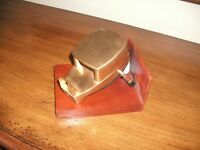 Vintage Gold Art Deco Steel Tape Dispenser -Economy Electric 50th Anniv. 1966