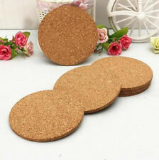 6pcs Cork Tea Coffee Drink Cup Mat Coasters Placemats Wine Tablemats Round NEW l