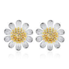 925 Sterling Silver Cute Daisy Simple Stud Earrings Fashion Women Jewelry Gifts