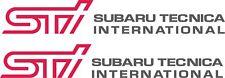 Subaru Forester STI side door decals stickers graphics exact oem size
