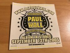 PAUL WALL The Peoples Champ Promo STICKER HOUSTON Swishahouse Decal Hip Hop Rap