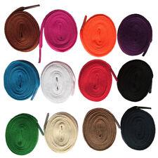 1cm Wide Flat Shoelace Shoelaces Shoe Lace cord  f Sneakers 24 color Many Length