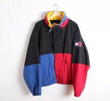VTG 90s Tommy Hilfiger Color Block Fleece Lined Jacket Flag Logo Men's Size L