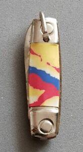 Gd090) Miniatur-Taschenmesser aus Kaugummiautomat / farb. Griffplatten Anf. 60er