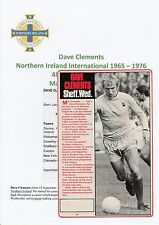DAVE CLEMENTS NORTHERN IRELAND INT 1965-1976 ORIGINAL SIGNED MAGAZINE CUTTING