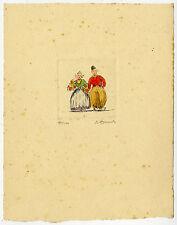 Print-DUTCH COSTUME-TRADITIONAL-BOUQUET-COUPLE-Smit (?)-ca. 1950