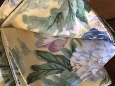 5 Pieces! Thomasville Hydrangea Cotton Yellow Blue Pink Floral Valances Curtains