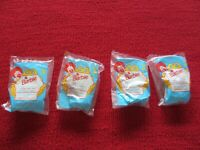"LOT OF 4 BARBIE MCDONALD'S TOYS ""EATIN'FUN KELLY IN HIGH CHAIR"" FROM 1990'S"