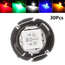 30Pcs 12V T4.7 Wedge 5050-SMD LED Light Bulb Car Dashboard Gauge Lamp A/C Lights