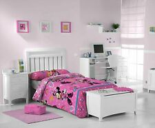 Minnie Mouse Single Duvet Cover Set Cute Rainbow Pink Children's Bedding